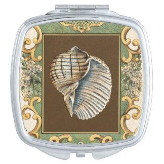 Small Mermaid's Shells Compact Mirrors