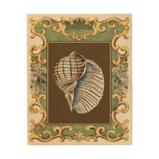 Small Mermaid's Shells Wood Wall Art