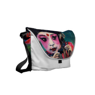 Small messenger bag Chinese girl 'dance'