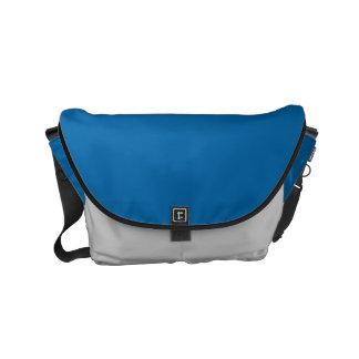 "Small Messenger Bag: ""SAPPHIRE BLUE & SILVER DUST"" Commuter Bags"