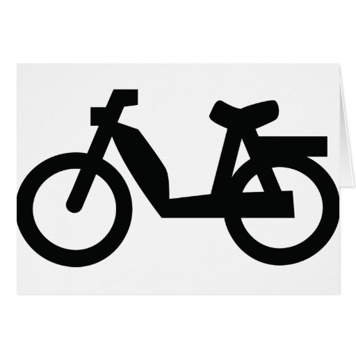 small moped icon greeting card