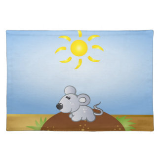 small mouse in relax Placemat