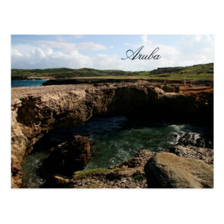 Small natural bridge in Aruba Postcard