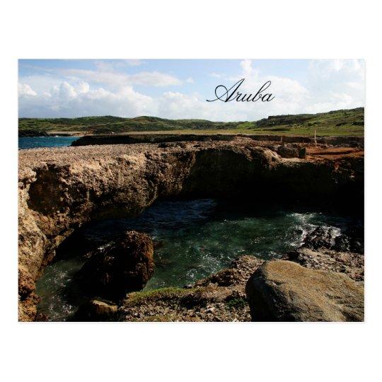 Small natural bridge in Aruba Postcard