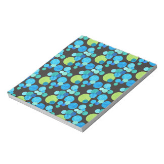 Small Notepad or Jotter, Blue Moons on Black