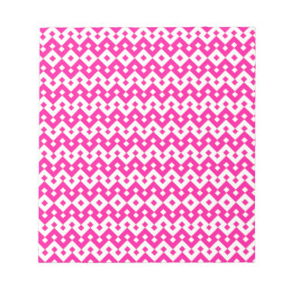 Small Notepad or Jotter, Candy Pink Geometric