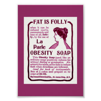 Small Odd  Vintage Weight Loss OBESITY SOAP Poster