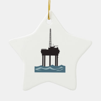 SMALL OFFSHORE OIL RIG CHRISTMAS ORNAMENT