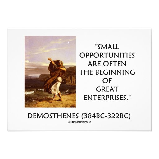 Small Opportunities Often Beginning Great Quote Custom Invite