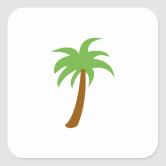 SMALL PALM TREE SQUARE STICKER