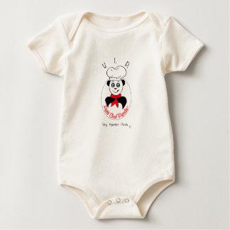 small Panda Chief Baby Bodysuit