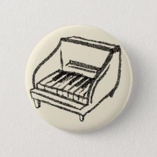 small piano 6 cm round badge