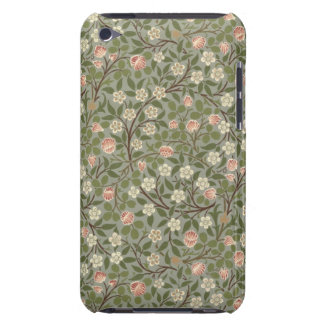 Small pink and white flower wallpaper design barely there iPod cases