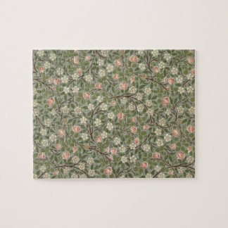 Small pink and white flower wallpaper design jigsaw puzzle
