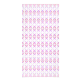 Small Pink Flower Pattern. Picture Card