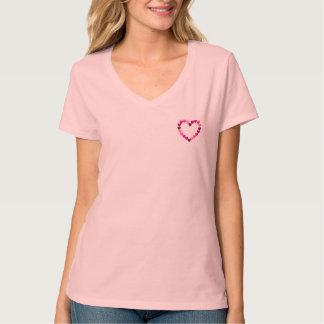 Small pink hearts heart T-shirt