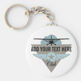 Small Plane Club Your Text Here Key Chains