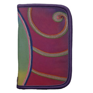 Small pocket Folio spiral coloured Painting fluo Planners
