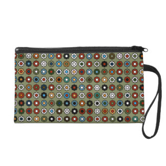 "Small pocket with green wrist-strap ""Hippie Style  Wristlet Purse"