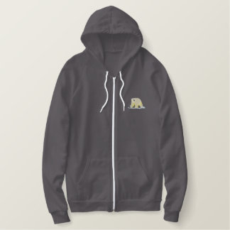 Small Polar Bear Embroidered Hoodie