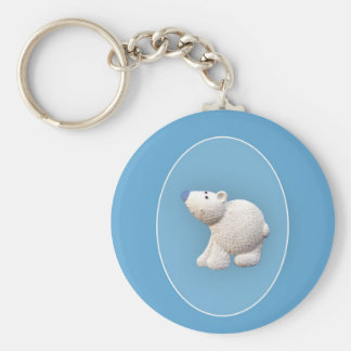 Small Polar Bear Key Ring