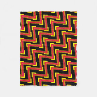Small polar cover red black and yellow fleece blanket
