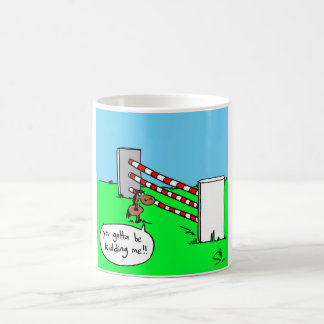 Small pony large fence coffee mug
