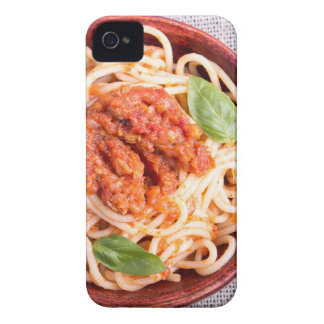 Small portion of cooked spaghetti with tomato iPhone 4 case