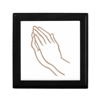 SMALL PRAYING HANDS SMALL SQUARE GIFT BOX