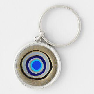 Small Premium Round Keychain/Greek Evil Eye Key Ring