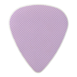 Small purple and white polka dot pattern acetal guitar pick