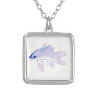 Small Purple Fish Necklace