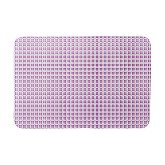 small purple hearts love pattern bath mat
