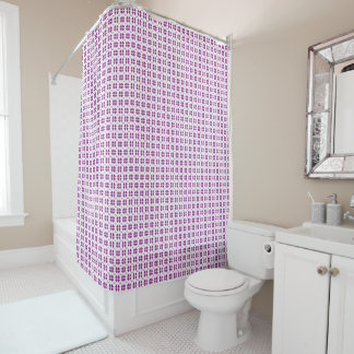 small purple hearts love pattern shower curtain