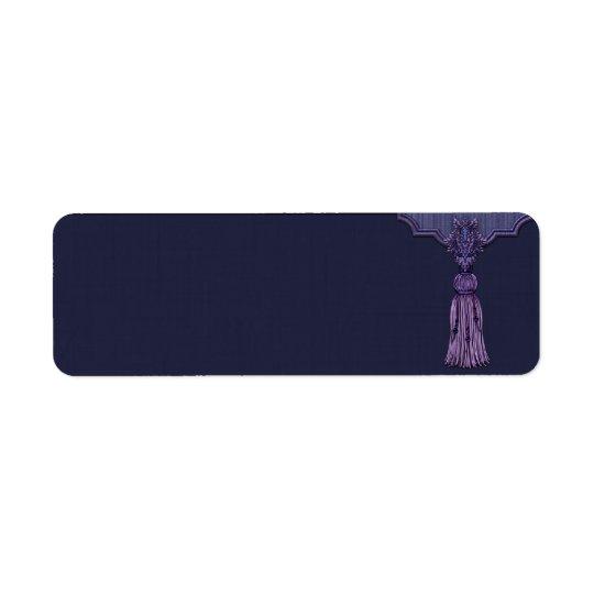 Small Purple Tassel Apothecary Label Return Address Label