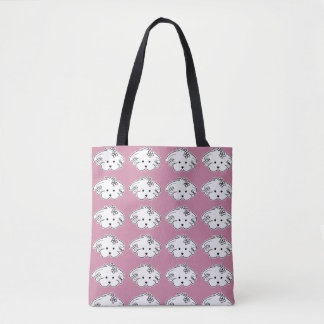 Small purse pink small dog, the world of Lua Tote Bag