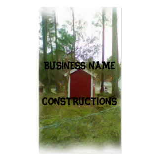 Small red building Double-Sided standard business cards (Pack of 100)