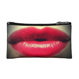 "Small ""Red Lips"" Cosmetic Bag"