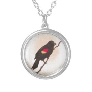 Small Red Wing Blackbird Necklace