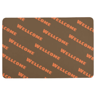 Small repeated word floor mat