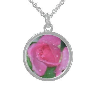Small Rosebud Pendant Necklace