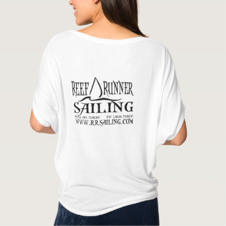 Small Sail on front with Website on Back T-Shirt