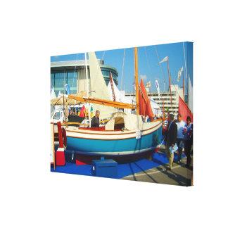 Small sailing boats Southampton boat show Canvas Print