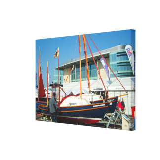 Small sailing boats Southampton boat show Stretched Canvas Prints