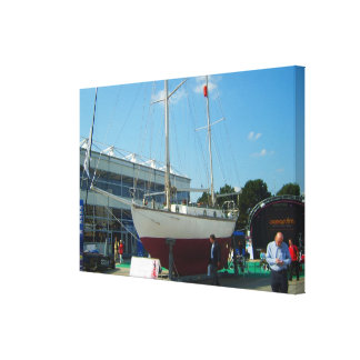 Small sailing boats Southampton boat show Stretched Canvas Print