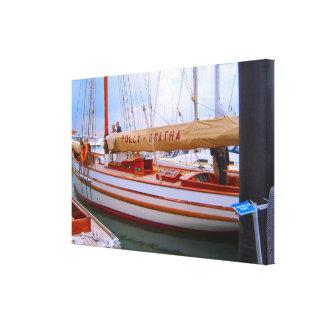 Small sailing boats Southampton boat show Canvas Prints