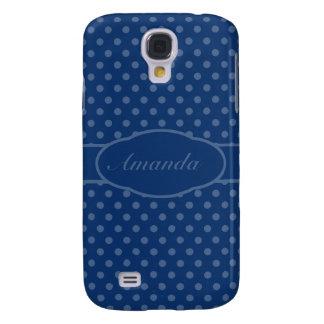 Small San Marino Blue Dots on Sapphire Blue Galaxy S4 Case