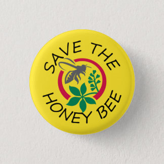 "Small ""Save The Honey Bee"" Button"