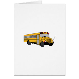 Small School Bus Greeting Card