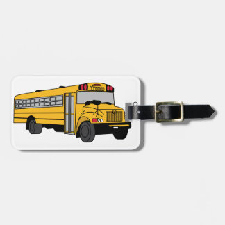 Small School Bus Luggage Tag